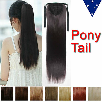 """20"""" Ponytail Clip In wrap around pony tail hair extensions remy colours"""