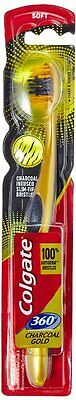 Colgate Charcoal Gold Tooth Brush Soft 360 Anti Germ Toothbrushes