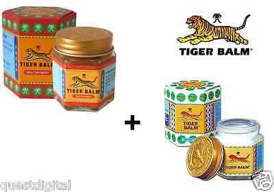21ml Tiger Balm Red + White Ointment Pain Relief Tension Headaches Muscular Ache