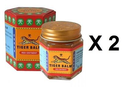 2 X 21ml Tiger Balm Red Ointment Strong Muscular Body Pain Headaches Relief