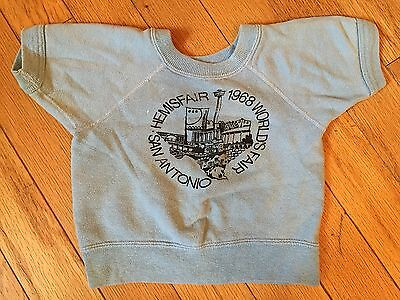 CUTE VINTAGE 1960's SWEATHSHIRT TODDLER SIZE SAN ANOTNIO WORLD'S FAIR