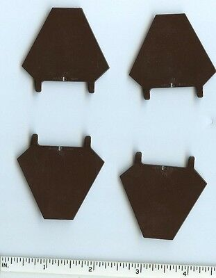 Lego Lot of 10 New Dark Brown Flag 5 x 6 Hexagonal Parts