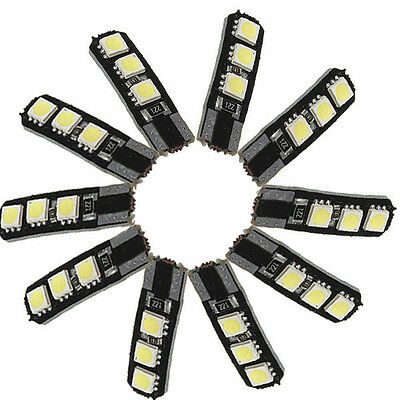 10X Canbus T10 194 168 W5W 5050 6 LED SMD Weiss Auto-Seiten-Keil-Licht Lampe GY