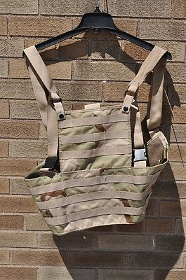 USGI 3 Color Desert Camo Rack System Load Bearing Vest Excellent (Like New)