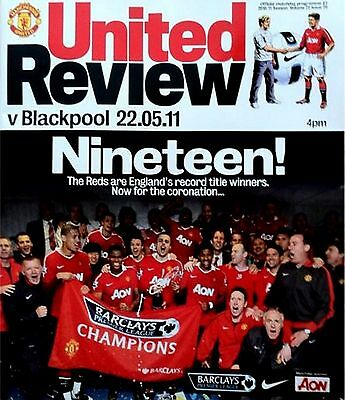 MANCHESTER UNITED v BLACKPOOL Premier League 2010/11 MINT