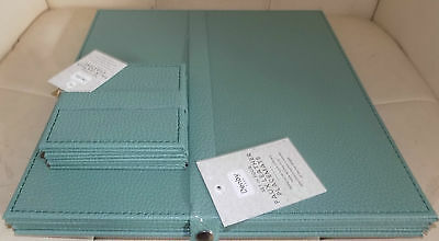 Denby  Sage / Green    Faux Leather Square  Place Mat & Coaster (4 Xset)
