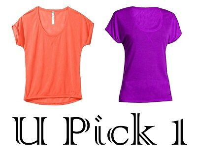 Under Armour Athletic Tee Top Womens Semi Fitted Sports BTS Ladies Teen Shirt UA