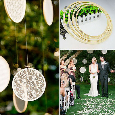 Wholesale Wedding Decor Rings 20Pcs Bamboo Cross Stitch Embroidery Hoop Sewing