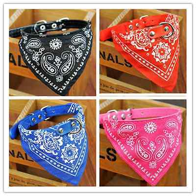 New Pet Dog Bow Tie Collars Dog/Cat Necklace Scarf Cute Printing Collar 4 Colors