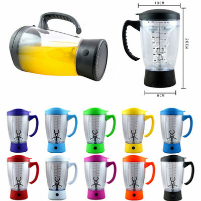 800ml Portable Protein Shaker Tornado Cocktail Mixer HandHeld Battery Bottle Cup