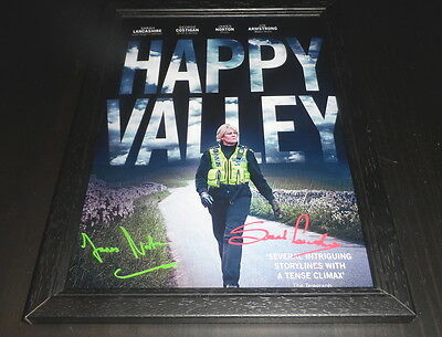 "Happy Valley Castx2  Signed Framed A4 12""x8"" Photo Poster Sarah Lancashire"