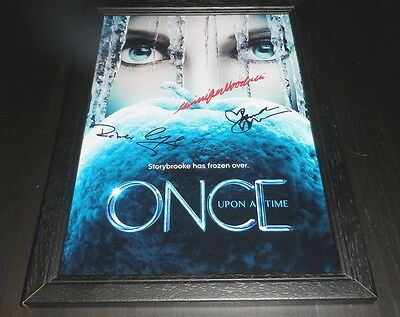 "Once Upon A Time Signed Framed A4 12""x8"" Photo Poster Ginnifer Goodwin S4"