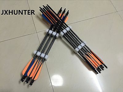 12) 8850 20 inch glass fiber crossbow arrows crossbow bolts for archery hunting