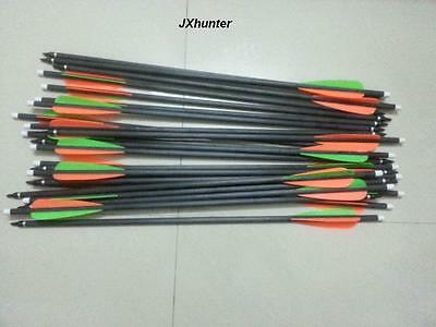 12) 2219 crossbow arrows 18 inches hybrid carbon arrows for archery hunting