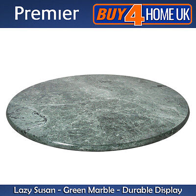 Premier Housewares Lazy Susan Green Marble - 30.5cm Rotating Cake Stand