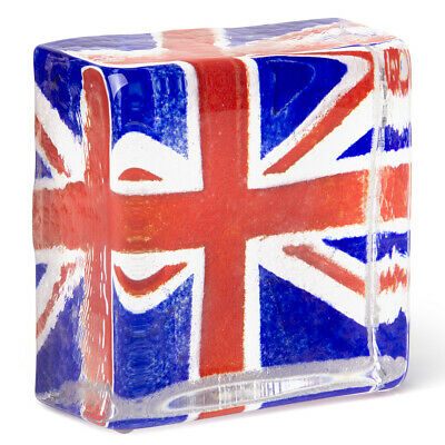 NEW Caithness London 2012 Union Jack Sandcast Paperweight
