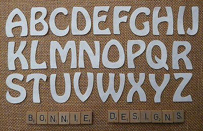 """2"""" FELT x26 LETTERS ALPHABET 2"""" inches die cuts Personalise Kids Crafts VARIOUS"""