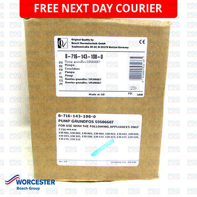 Worcester Grundfos 24CDI, 26CDI, 28CDI & 35CDI Pump 87161431080 - GENUINE & NEW