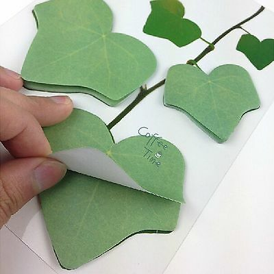 Sticky Note Memo Pad Leaf-it Sticker Post It Stationery Bookmark Maple Leaf