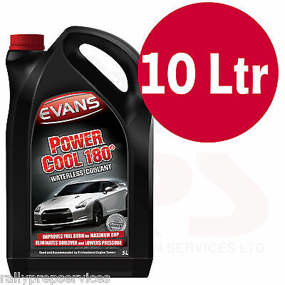 EVANS WATERLESS POWER COOLANT 180 - 10 Litre High Performance / Rally Car / Race