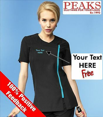 Ladies Camelia Beauty Tunic Personalised FREE OF CHARGE Therapist Spa Hair PR686