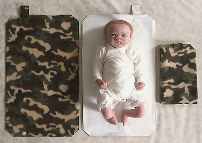 HAND MADE BABY TRAVEL CHANGING MAT - Army Camouflage Print