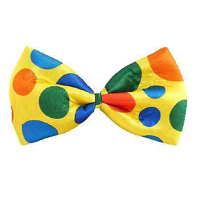Spotty Clown Bow Tie Fancy Dress Costume Accessory Circus Outfit Large Big Funny