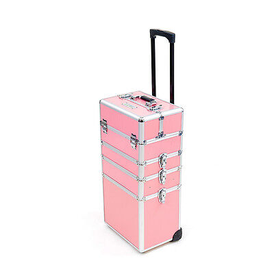 Mollycoddle 5in1 Pink Hairdressing Makeup Beauty Box Nail Case Cosmetics Trolley