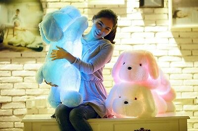 New Colorful Romantic LED Light Up Glow Pillow Soft Cosy Relax Cushion Love Dog
