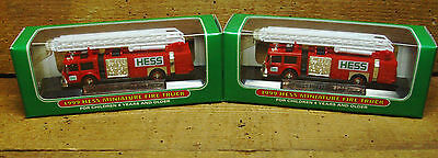 Hess Miniature Fire Trucks  <NIB 1999 Year> Lot of 2