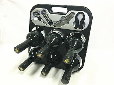 Bottle Drinks Holder Rack Sstorge Waiter's Knife Wine Stopper Foil Cutter Pour