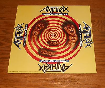Anthrax State of Euphoria Poster 2-Sided Flat Square 1988 Promo 12x12