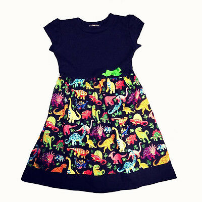 Dinosaur Print Baby Girls Dress, Goth, Punk, Alternative, Rockabilly, Unique
