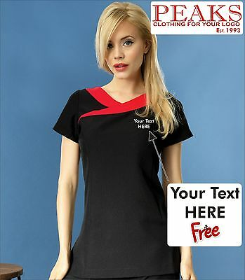 Ladies Ivy Beauty Tunic Personalised FREE OF CHARGE Therapist Spa Hair PR691