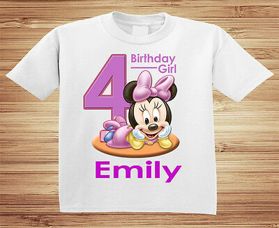 Minnie Mouse Personalized Birthday Shirt - Custom Party Disney Mickey Pluto