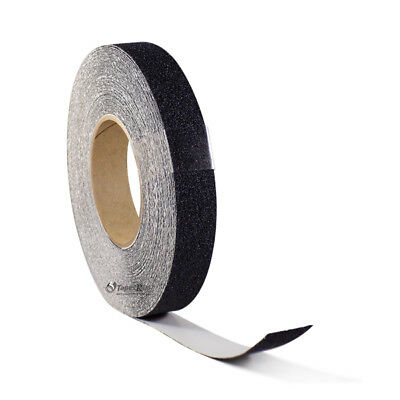 "1"" x  60FT BLACK ROLL SAFETY NON SKID TAPE ANTI SLIP TAPE STICKER GRIP SAFE GRIT"