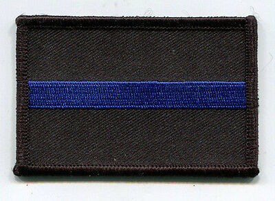 "Thin Blue Line ""Hook & Loop"" Type Patch /// 3"" x 2"" /// Police / Sheriff"