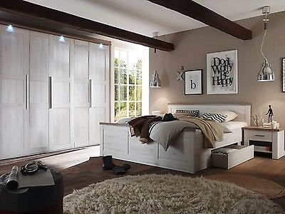 Bedroom Furniture Set 4 Items | Super King Size Bed & 5 Door Wardrobe TOULOUSE