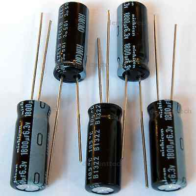 20x Nichicon HM 1000uF 10v Low-ESR radial capacitors caps 105C 8mm Low Impedance