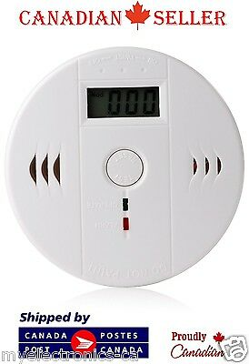 Carbon Monoxide Detector Gas Sensor Unit LCD CO Alarm Tester White Poisoning