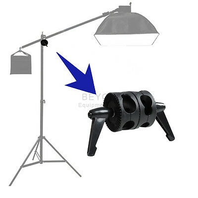 Dual Head Angle Grip Clamp for Photo Studio Video Light Stand Boom Reflector Arm