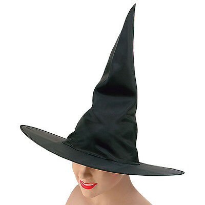 Plain Black Witch Hat For #halloween Party Adult One Size Fancy Dress Accessory