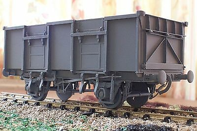 0 Gauge etched brass 21 ton 8 shoe Mineral Wagon kit