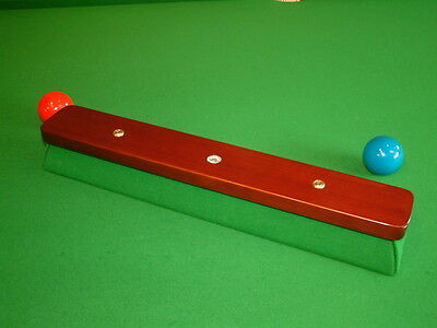 "PERADON 18"" SNOOKER, POOL, BILLIARD TABLE NAPPING BLOCK inc-Leather Chalk Holder"