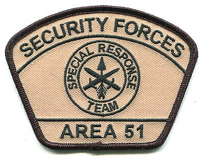 Area 51 Security Forces Special Response Team Patch / Police / Military SWAT UFO
