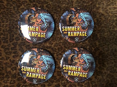 4 x Tournament pins for summer rampage / Rare / Official product