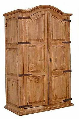 Double Full Door Armoire Rustic Western Cabin Lodgeolid Wood Pantry Storage