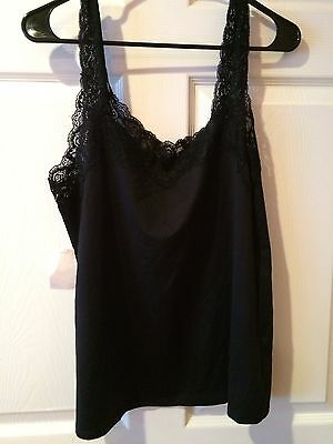 Cato Lingerie Camisole Size Large NEW NWT Cami Lrg L Black Lace