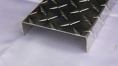 "Diamond Plate Aluminum C-Channel 1"" x 4"" x 1"" x 48"", 1/16"" thick, SET OF 2"