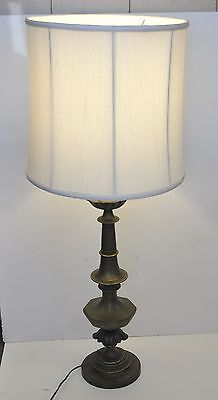 """Vintage Solid Brass Large (38"""" high) heavy (15 lb) Trophy Table Lamp"""
